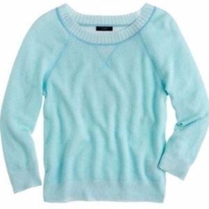 J CREW Collection cashmere plaited sweatshirt xs